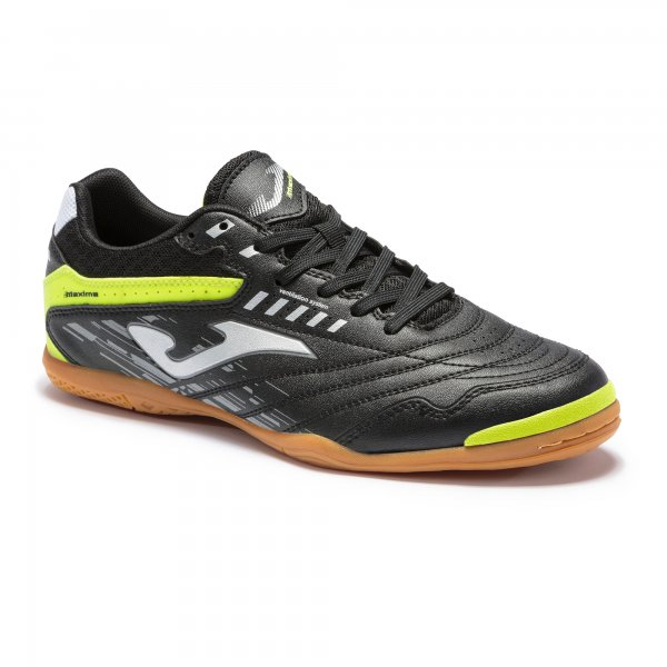 Zapatillas Fútbol Sala – MAXIMA 2101 Negro-Amarillo Flúor